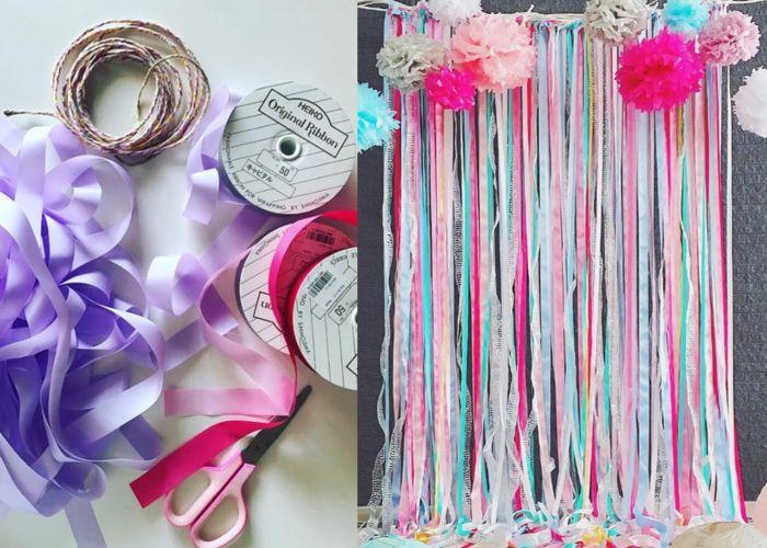 結婚式が華やかになる*リボンカーテンの作り方&飾り方