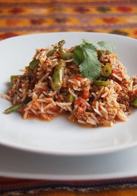 Lambbiryani.  This recipe sounds yum.