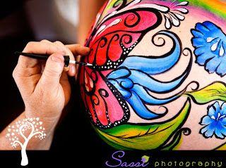 Body Painting en la panza de las embarazadas