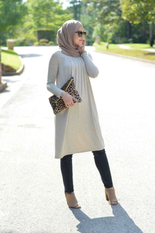 long tunic hijab look, Fall stylish hijab street looks http://www.justtrendygirls.com/fall-stylish-hijab-street-looks/
