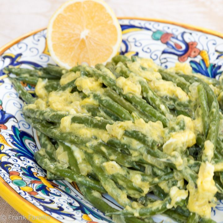 Fagiolini in fricassea (Green Beans in Egg and Lemon Sauce)