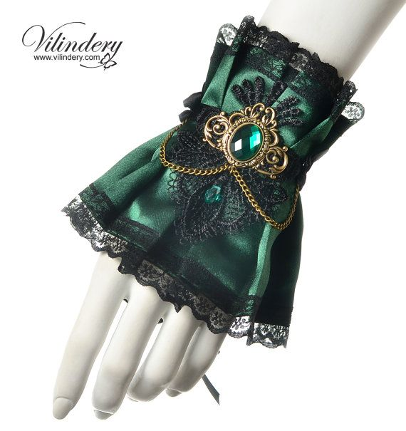 Victorian fantasy cuff with a beautiful cameo by Vilindery