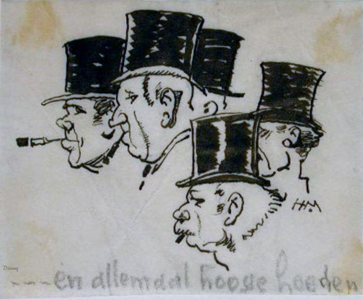 en allemaal hoge hoeden