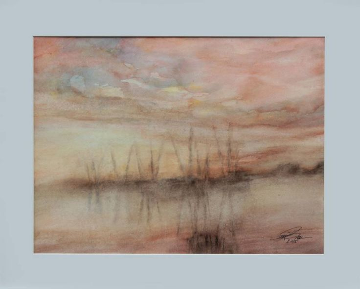"""Sunset II"" 2015 40 x 30 cm Watercolour on cotton paper 300 g luigibarra.blogspot.it"