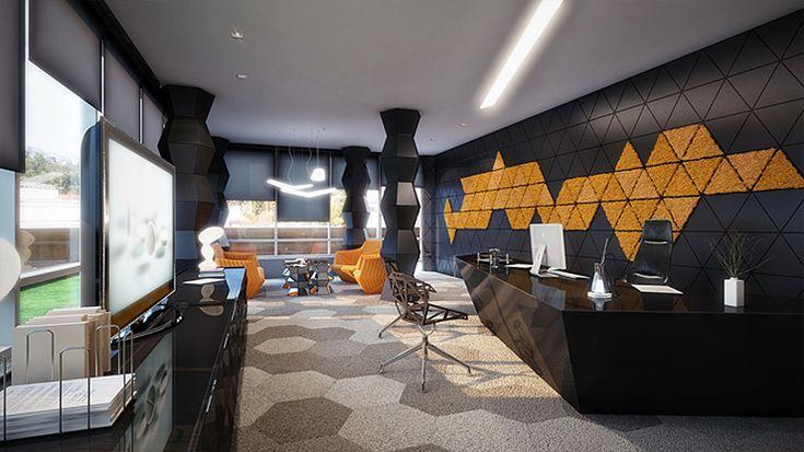 Rompharm office interior design by Geometrix   Design Build Ideas