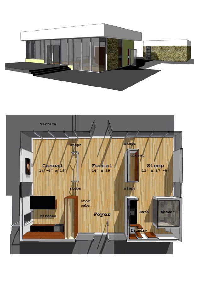 Modern 1 Bedroom House Plans > PierPointSprings.com
