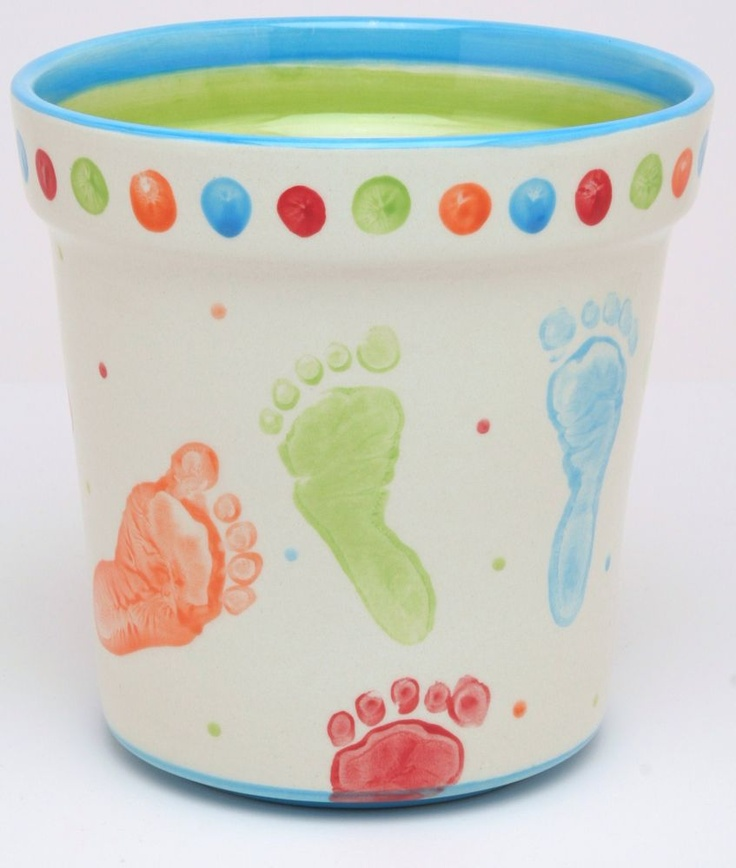 hand and foot print paint ideas - Great Mothers Day Idea for Grandma!