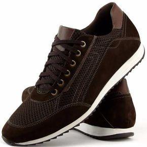 sapatenis tênis casual couro jogger jogging masculino dhl  410df2e1261