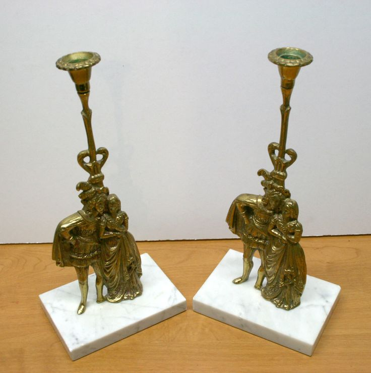 Victorian Figural Brass Marble Base Candle Holders//Brass Candle Holders//Vintage Brass Candle Holders by TresorsJeAmour on Etsy https://www.etsy.com/listing/481920125/victorian-figural-brass-marble-base