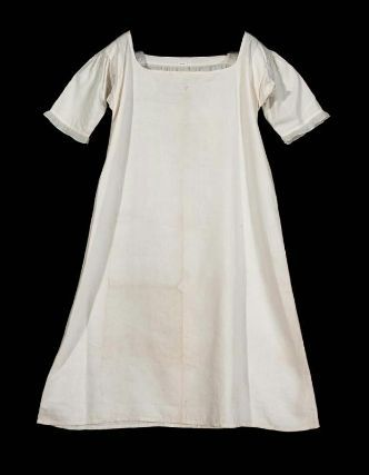 Chemise, shift. American, early 19th century. Linen, cotton, embroidery - in the…