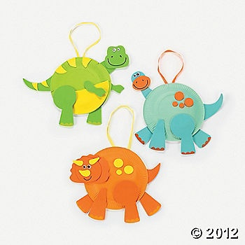 Paper Plate Dinosaurs- These are from Oriental Trading, but how easy to make on your own!