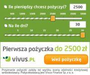Vivus - pożyczki szyte na miarę. Pierwsza 2500 zł bez opłat.