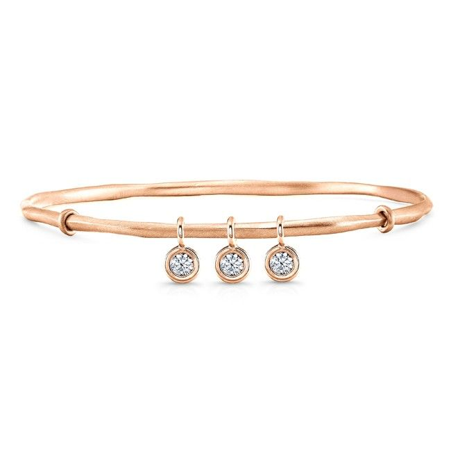 Rahaminov Diamonds 18K Rose Gold Tennis Bracelet with Diamond Bezels S9H9fTK