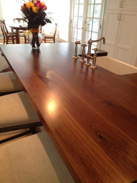 12 best images about wood countertops on pinterest woods for How to install butcher block countertops