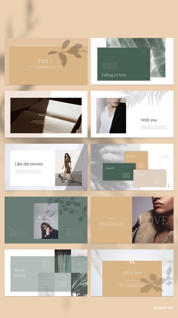Glory Presentation PowerPoint Template  Elements of shadow