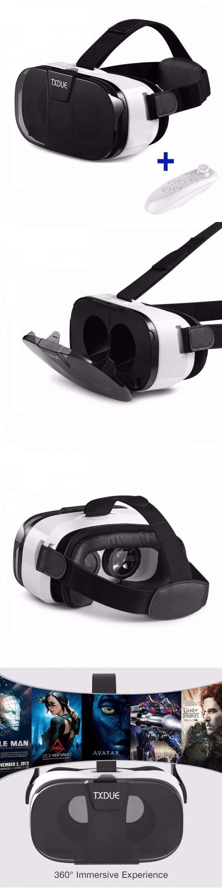 3D TV Glasses and Accessories: 3D Vr Headset, Txdue Virtual Reality Goggles With Bluetooth Remote Controller, U BUY IT NOW ONLY: $30.56