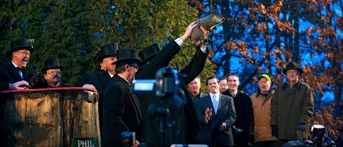 The first legendary trek to Gobbler's Knob on #GroundhogDay occurred in 1887. In 2011, Phil celebrated his 125th anniversary of prognosticating.