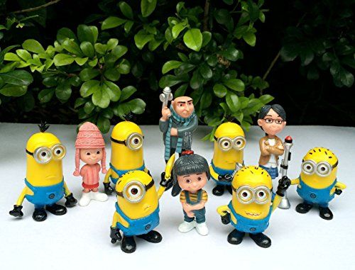 Hot Set of 10pcs Despicable me 2 Cute Figures Movie Minions Doll Boy Girl Toy @ niftywarehouse.com #NiftyWarehouse #DespicableMe #Movie #Minions #Movies #Minion #Animated #Kids