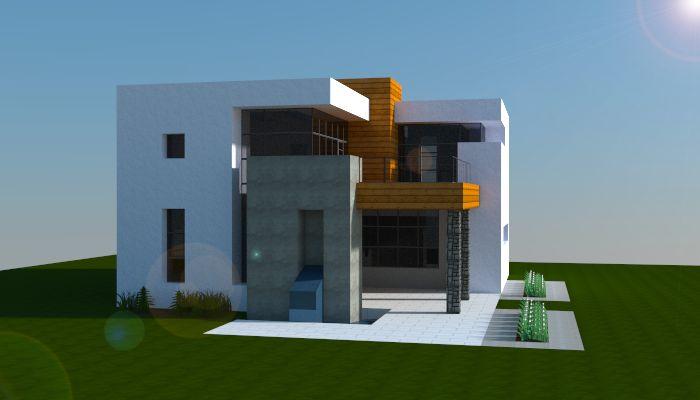 A simple modern house i made in minecraft. Download link: http://www.minecraft-schematics.com/schematic/6000/