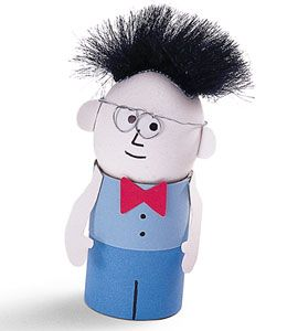 Daddy Egg It's just toilet paper rolls, construction paper, markers, and whatever you want to use for the face and hair!