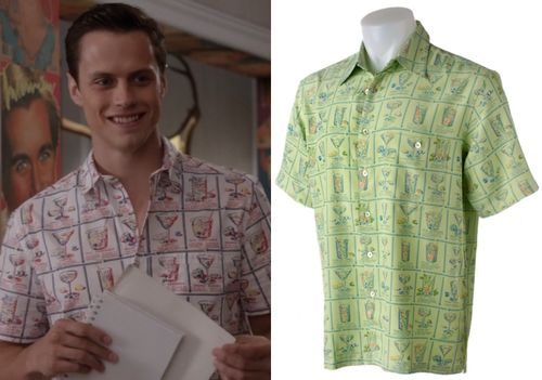 Bennet Wilcox (Jake Robinson) wears a cocktail print shirt in The Carrie Diaries season 2 episode 3 'Strings Attached'