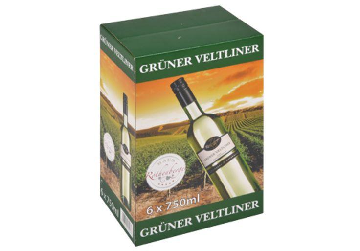 #Offsetkaschierter #Weinkarton • #Verkaufsverpackung für 6 Flaschen Weißwein. • 4-färbig #Offsetbedruckt. • #T4P, #Getränkeverpackungen