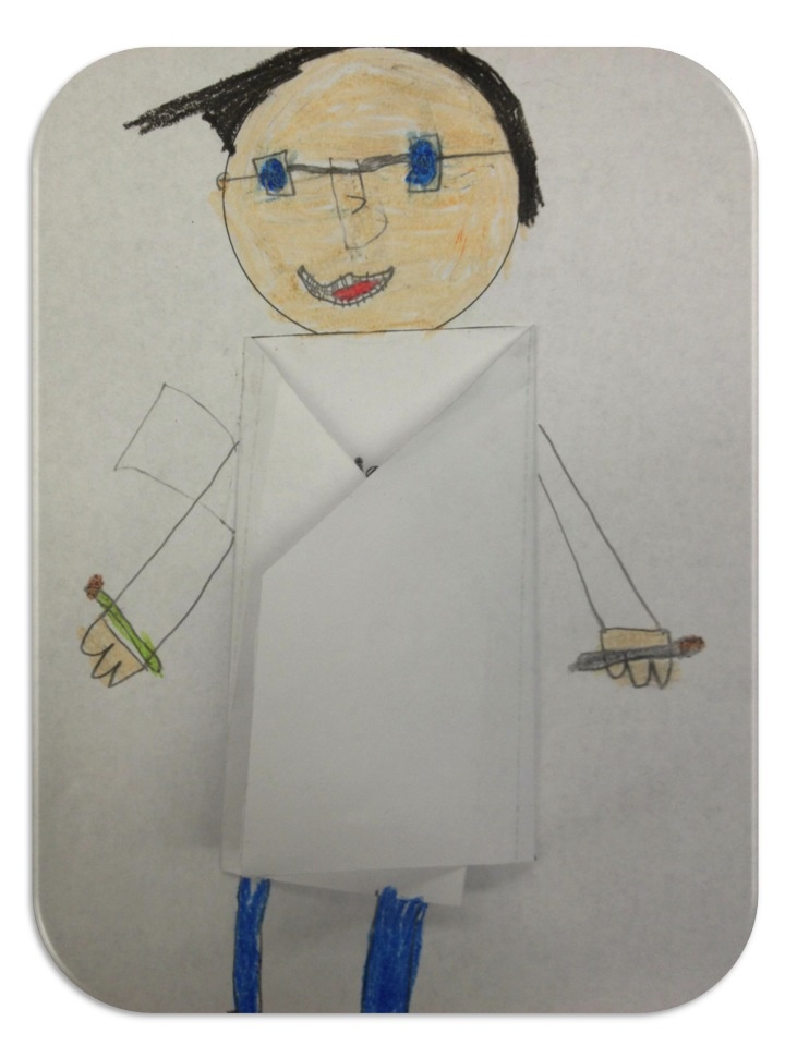 What is a Scientist?  Use a piece of paper for the lab coat and have the kids write inside of it what a scientist does.