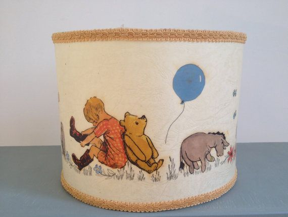 28 best winnie the pooh collectibles images on pinterest pooh bear vintage winnie the pooh lampshade by picklekids on etsy 2000 aloadofball Gallery