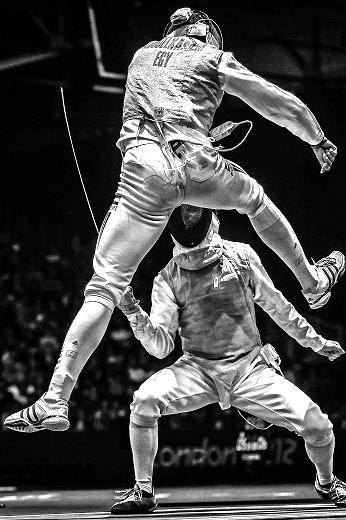 Olympic fencing 2013 by Sergei Ilnitsky