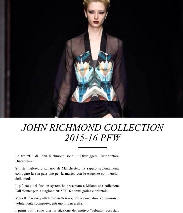 Articolo su John Richmond alla MFW  http://www.mavieestma.com/articolo-132-fashion-news-barra-john-richmond-collection-2015-16-pfw.html
