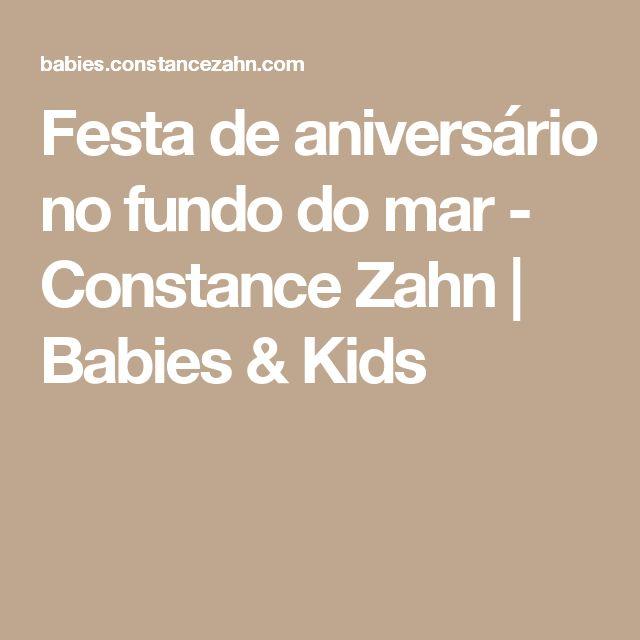 Festa de aniversário no fundo do mar - Constance Zahn | Babies & Kids