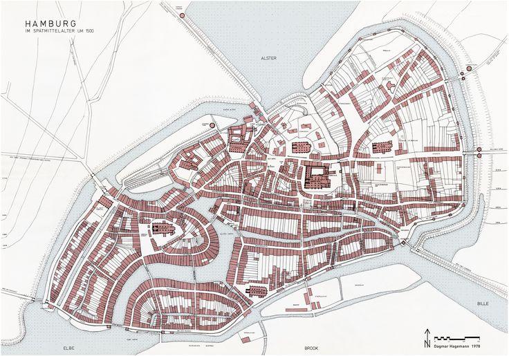Karte Hamburg 1500 Dr. Dagmar Hagemann