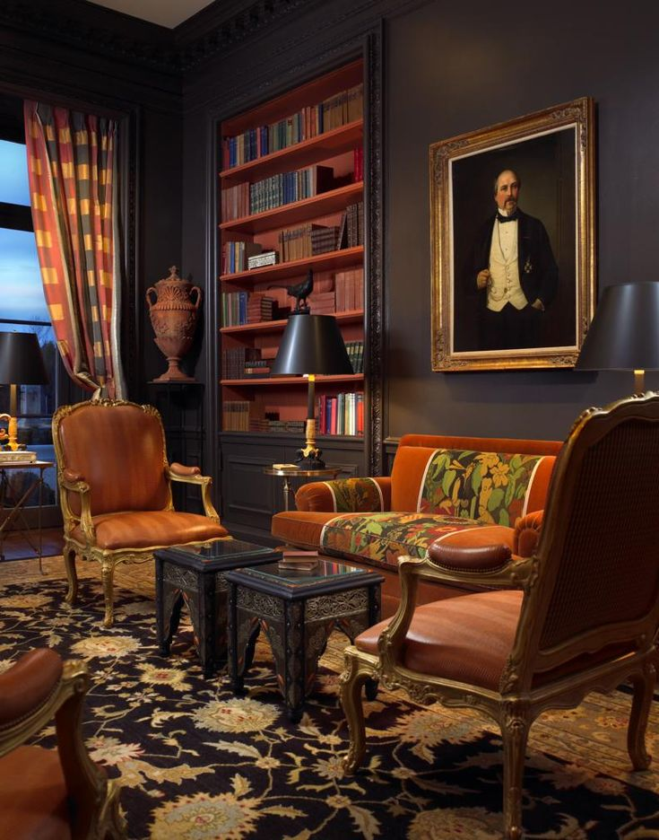 LIBRARY  home office, den and study. The Enchanted Home: Designer  spotlight: Scott Snyder.