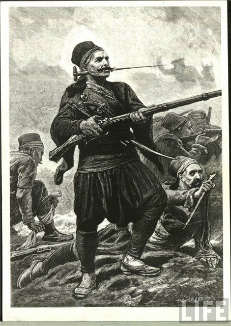 Turkish infantery soldier, Russo Turkish War, 1877.