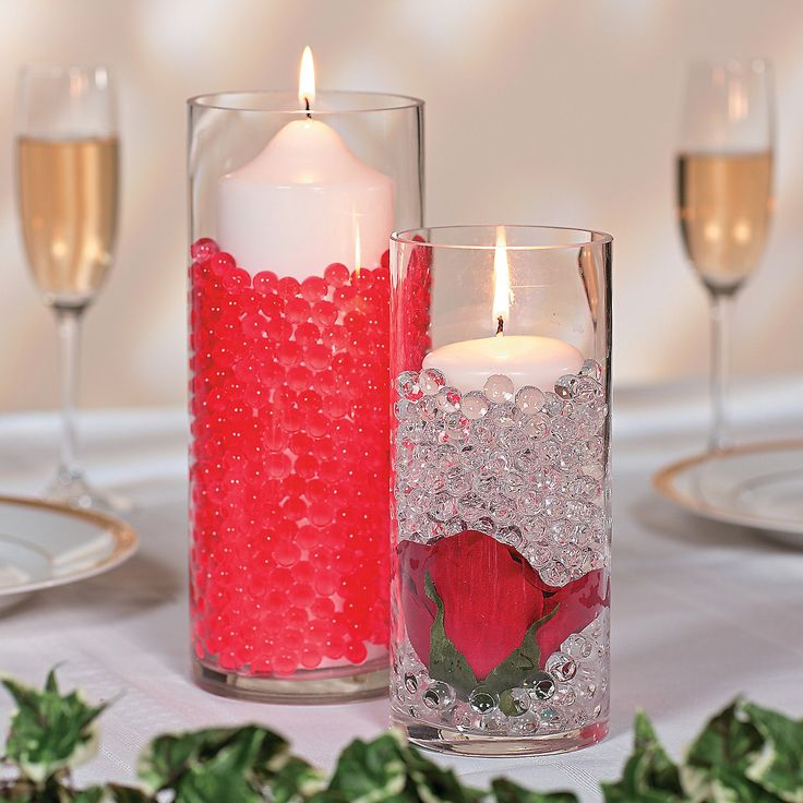 Water beads centerpiece idea orientaltrading