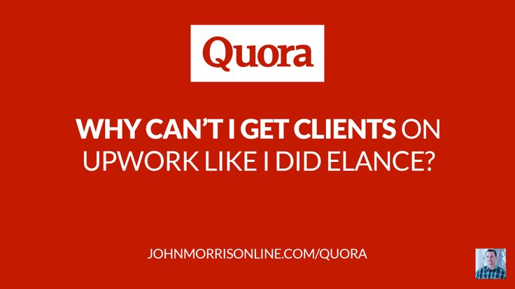 Struggling to get work on Upwork like you used to on Elance? This is usually the reason why.