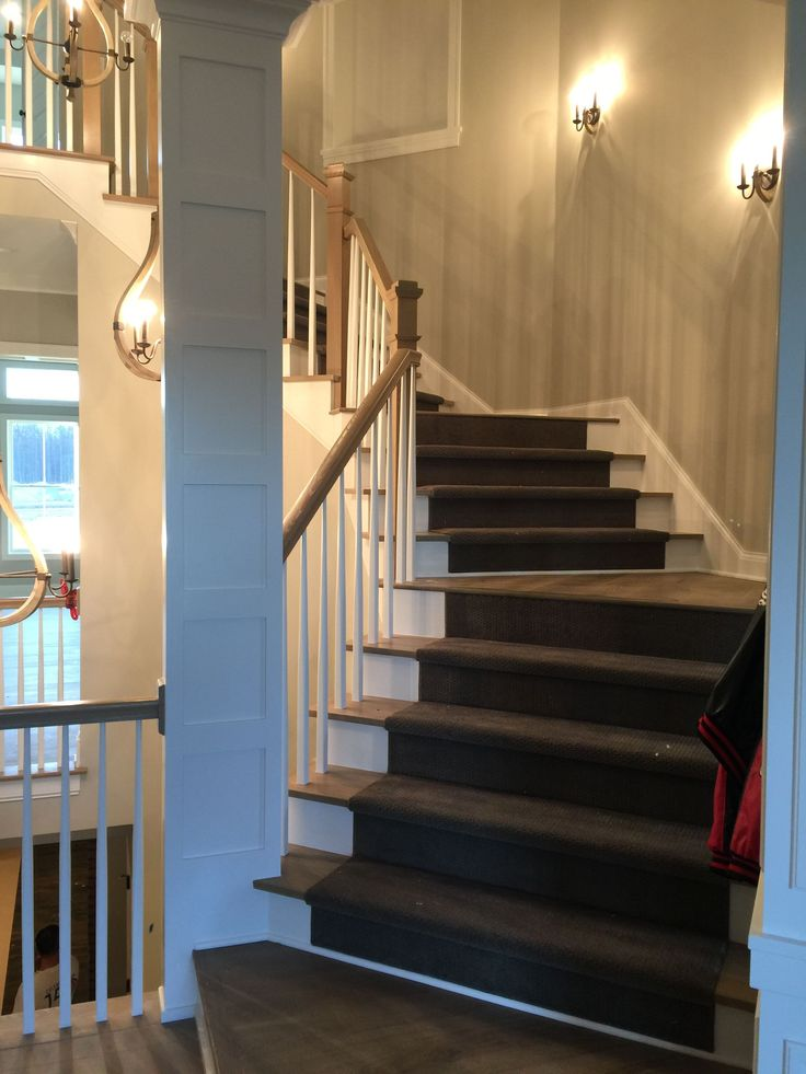 Best Modern Spiral Staircase With Gray Stair Runner Installed 400 x 300