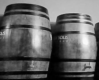 Zona de barriles de vino. (Black and White).