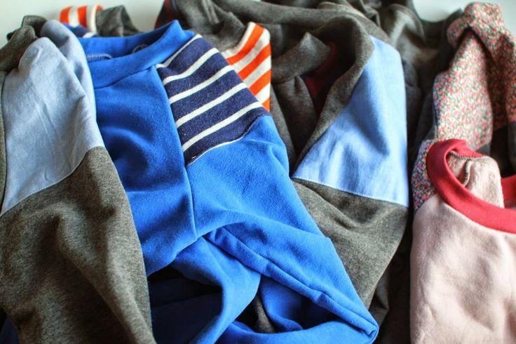 Sweatshirt med stribe til Magne