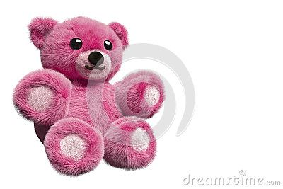 3D Illustration Of A Pink Furry Teddy Bear - Download From Over 61 Million High Quality Stock Photos, Images, Vectors. Sign up for FREE today. Image: 95281674