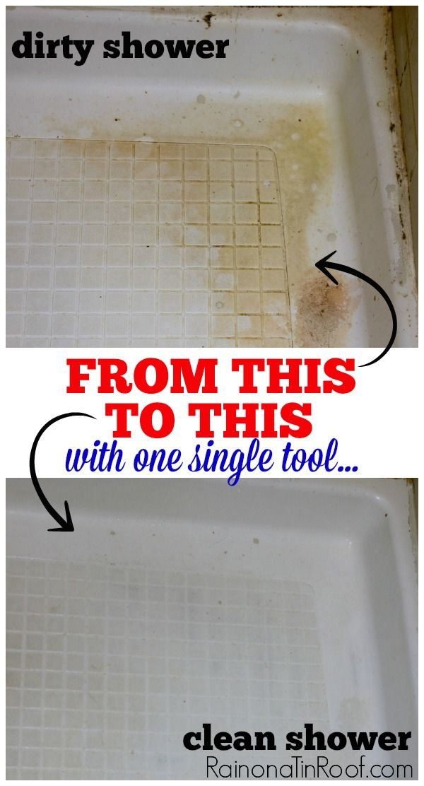 GROSS, but very interesting! Clean that Disgustingly Gross Shower with One Single Tool