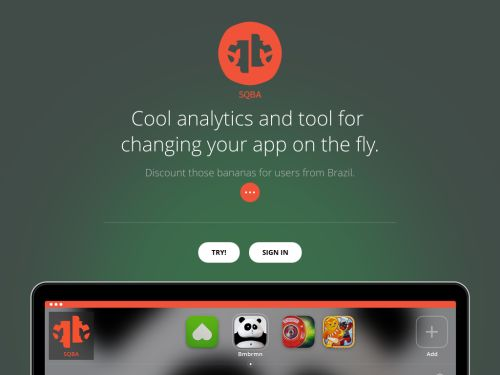 SQBA: Mobile analytics and tool for changing your app on the fly.