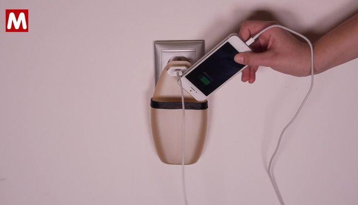 Potřebujete si nabít mobil ze zásuvkyk ale nemáte jej kam odložit? Vyrobte si podle návodu Mall.cz pouzdro!