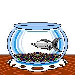 """Brave Fish"" - Software: Microsoft Paint & UnFREEz GIF animation program"