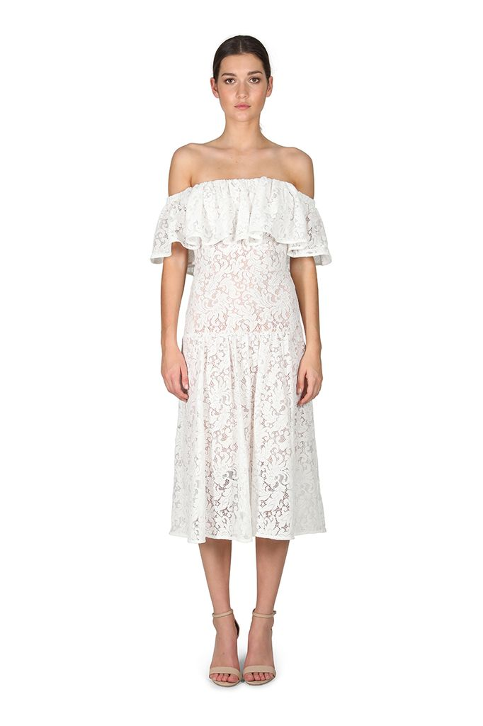 Cooper St - Sunday Silence Lace Off The Shoulder Dress