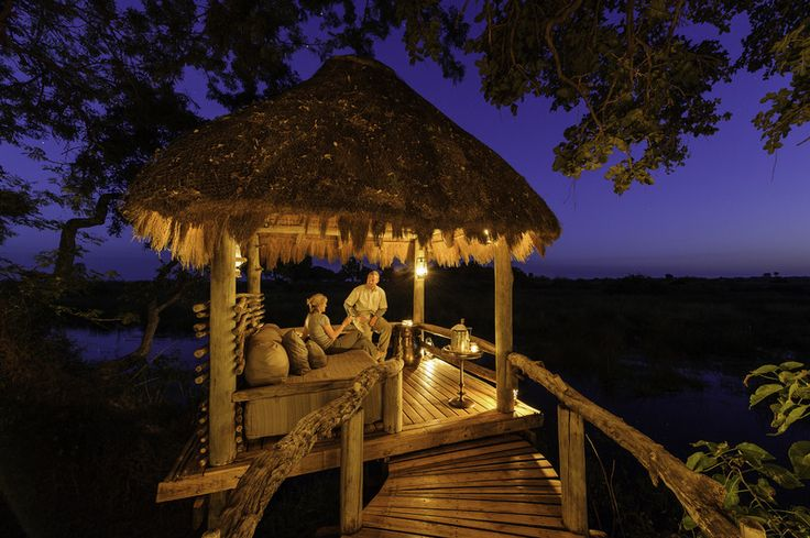 African safari accommodation in Botswana. image: Mombo