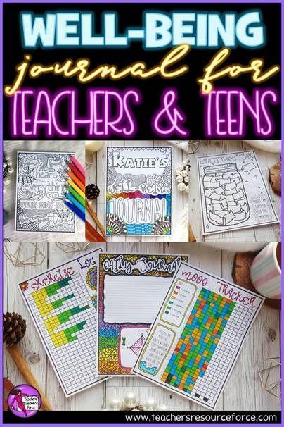 Well-being journal for teachers and teens   Teachers Resource Force