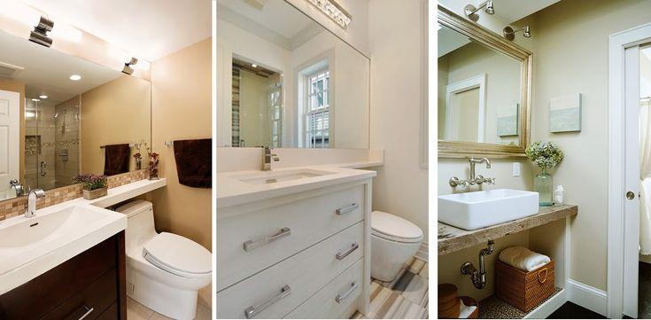 Ideas para Ampliar el Baño Visualmente - Para más información ingrese a: http://disenodebanos.com/ideas-para-ampliar-el-bano-visualmente/
