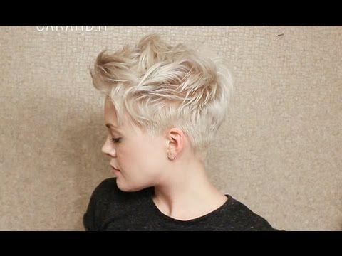 I love Sarah's pixie cut tutorials. She is able to do in one minute what other gabby YouTubers take 15 minutes to explain. | Messy Pixie Cut Hairstyle Tutorial - YouTube #hairtutorial #shorthairtutorial #pixiecuts