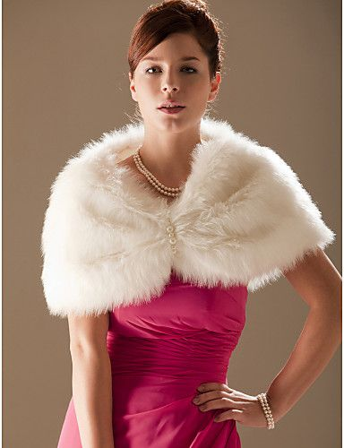 mangas, casaco de pele falso casamento noivas wrap / (whpj002-2045) - BRL R$ 48,13